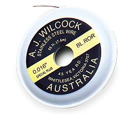 A.J Wilcock Australian Regular Stainless Steel 25' Spool